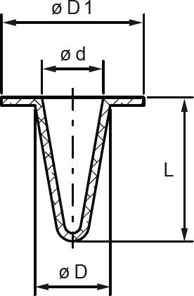 INtherm® Konische Hohlstopfen mit Kragen