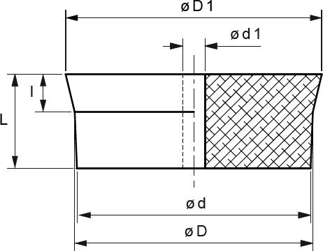 INtherm® Konische Stopfen mit Stufe und 6 mm Bohrung